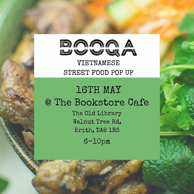 THURSDAY! We'll be popping up at our local @bookstorecafeerith for our first ever Vietnamese kitchen take over! Come by and enjoy some food and drinks ☺️☺️