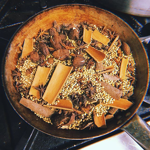 Roasting the spices for our fragrant pho broth tomorrow! Will we see you there? We will be taking over @bookstorecafeerith kitchen serving summer rolls, noodle salads, banh mi and pho. We will start serving from 6pm ☺️☺️