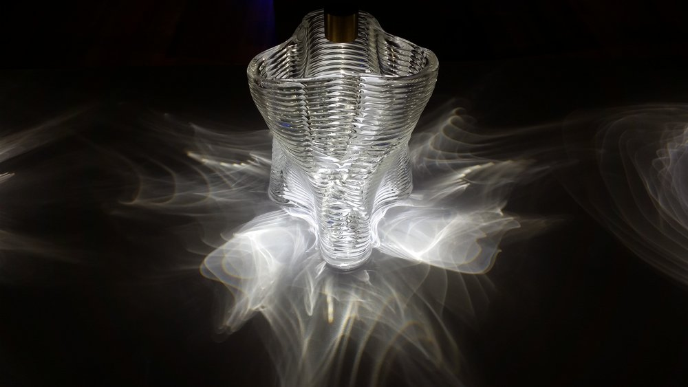 3D printed glass by Neri Oxman + MIT Media Lab Mediated Matter Group