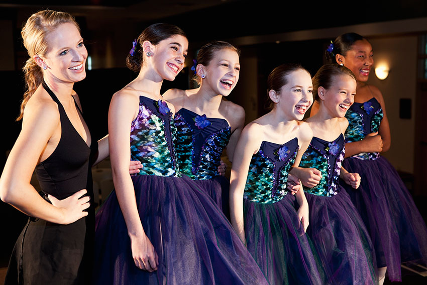Group of young dancers