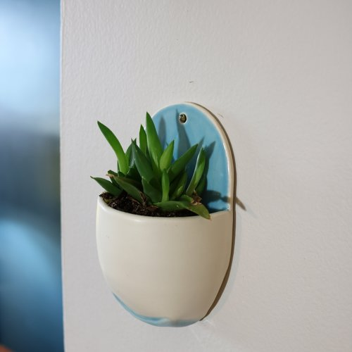 Mini Wall Planter - Blue — Jess Palmer Ceramics