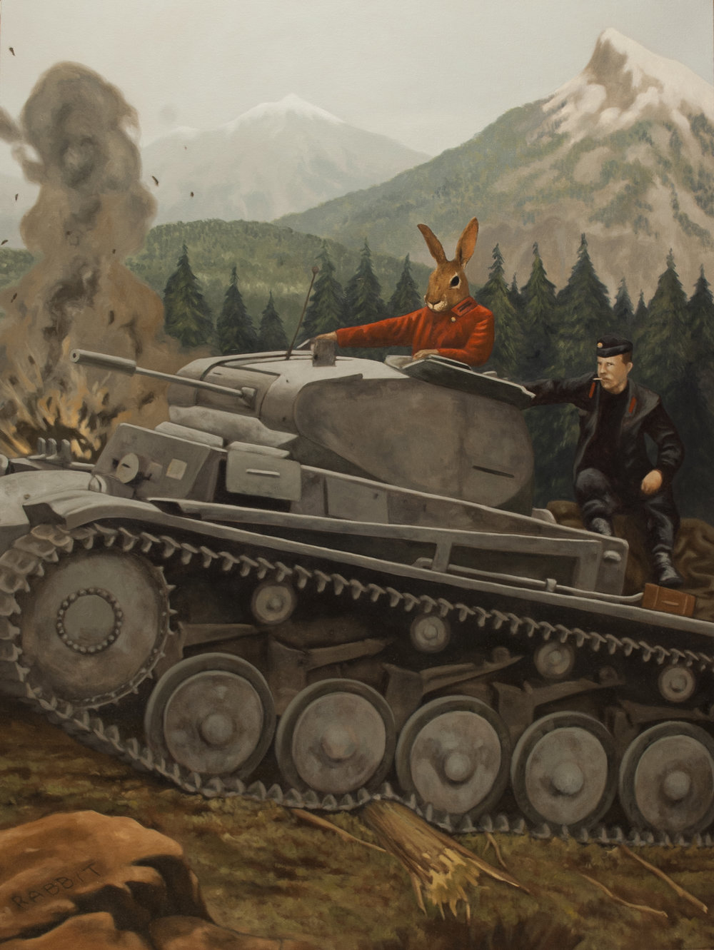 General Rabbit Crossing the Alps