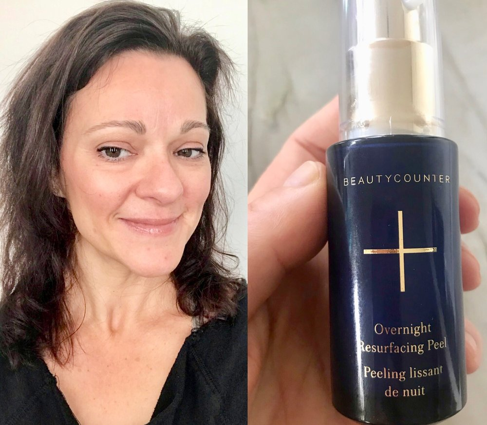 Overnight Resurfacing Peel!  Magic gold in a bottle! One of my absolute favorite booster skincare products! Wake up to glowing skin!