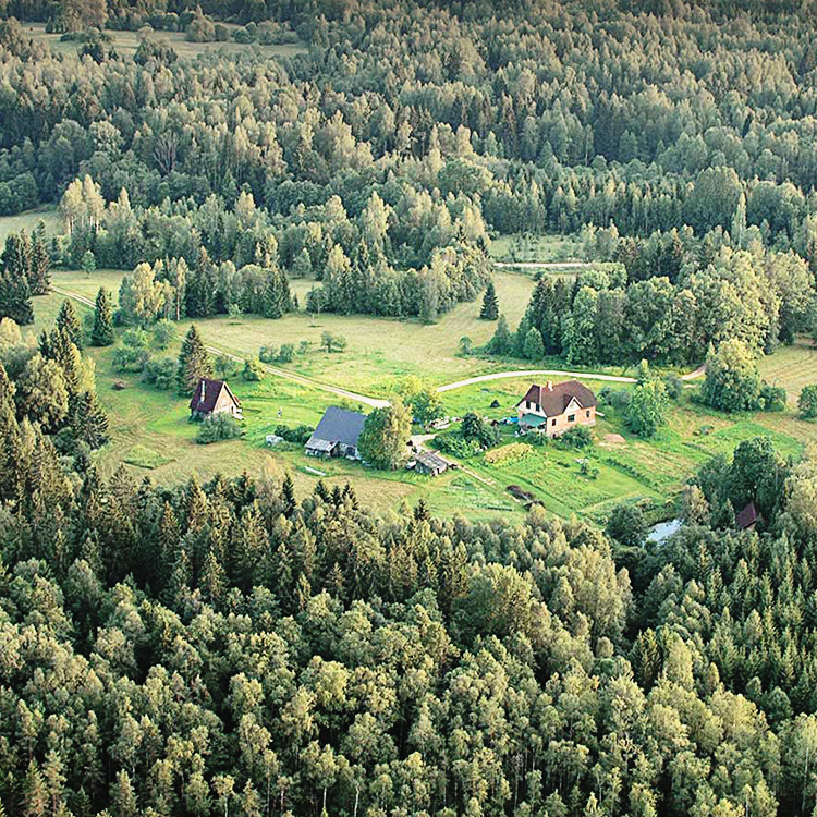 aerial view of Ozolini farm