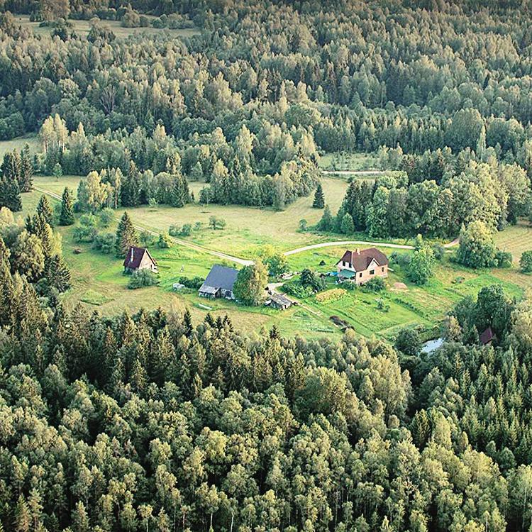 aerial view of Ozolini farm