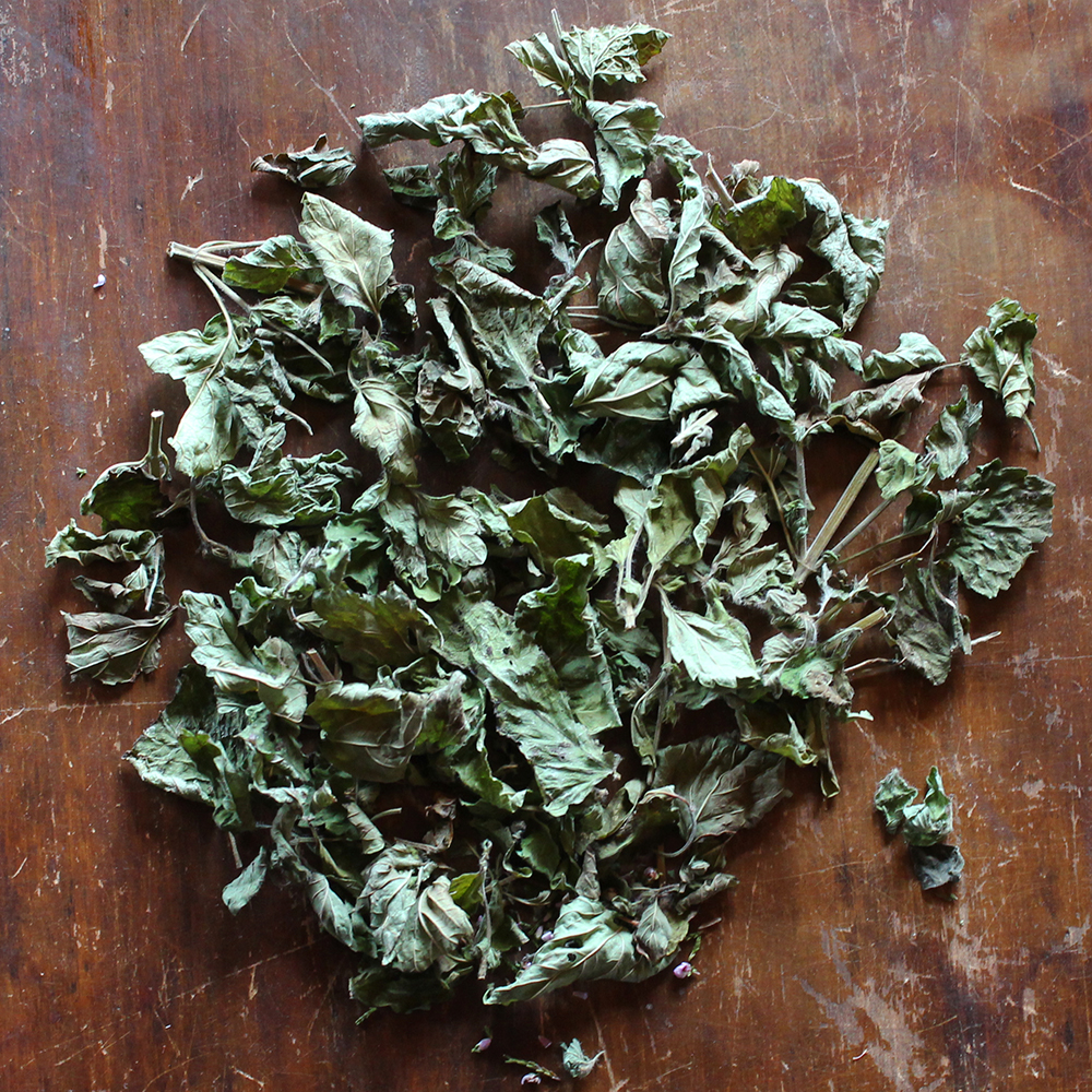 Lemon Balm   refreshingly aromatic with a lemony mint flavor