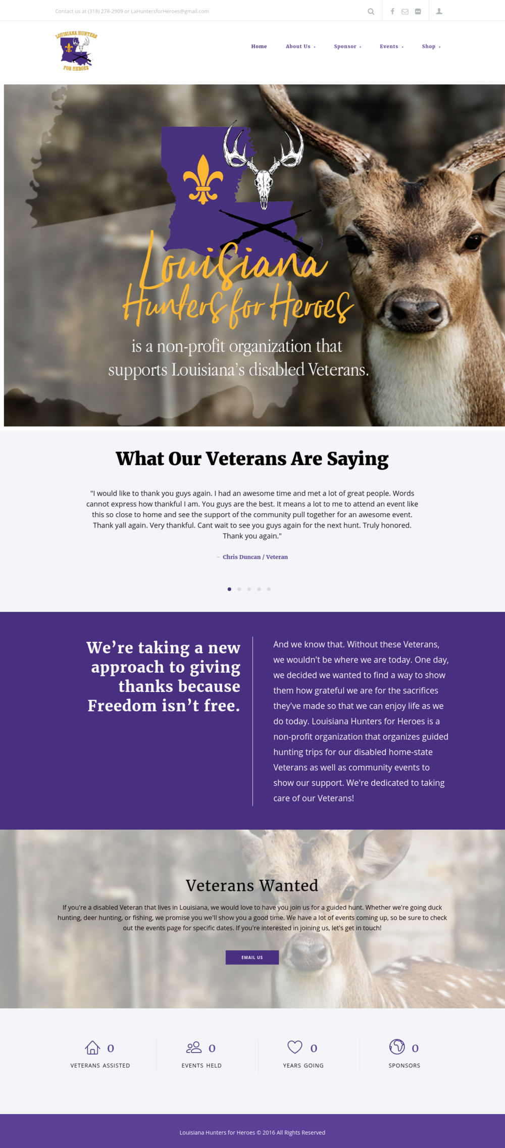 Non-Profit Veterans Website Design