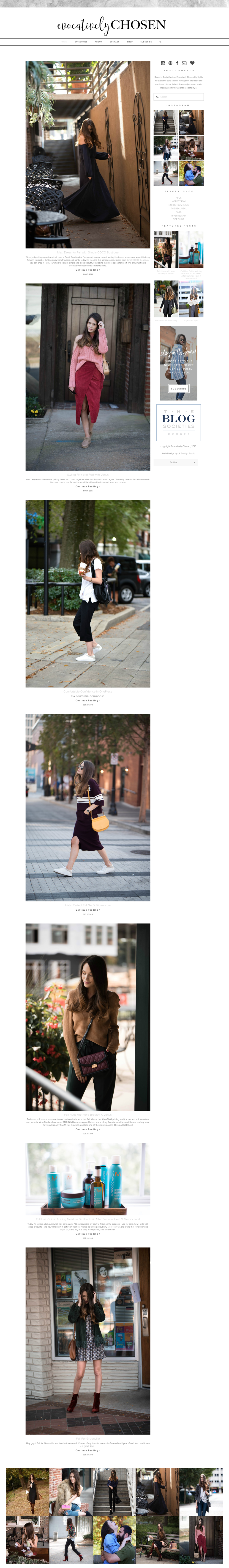 Evocatively Chosen | Fashion Blog Branding & Web Design Squarespace