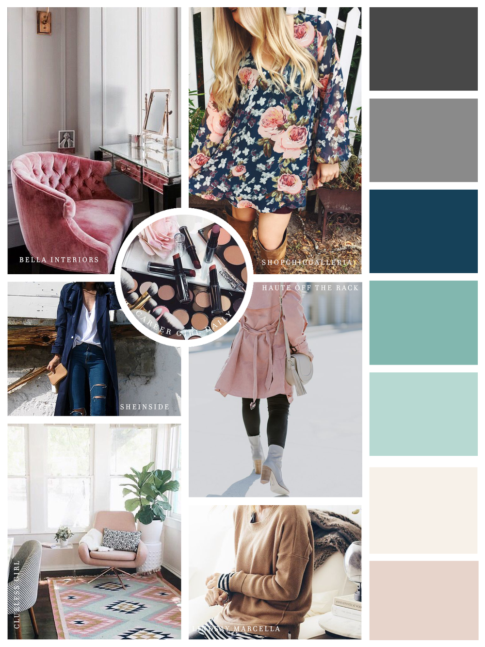 Chic Galleria Boutique Moodboard