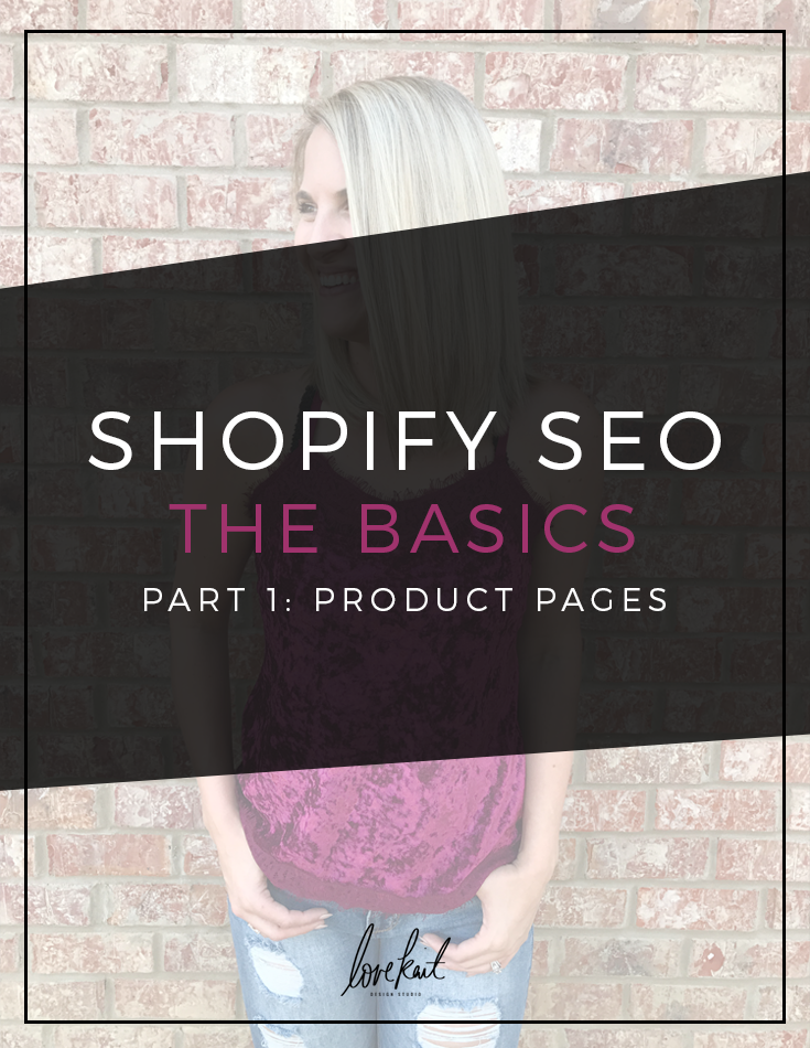 Shopify SEO for product pages