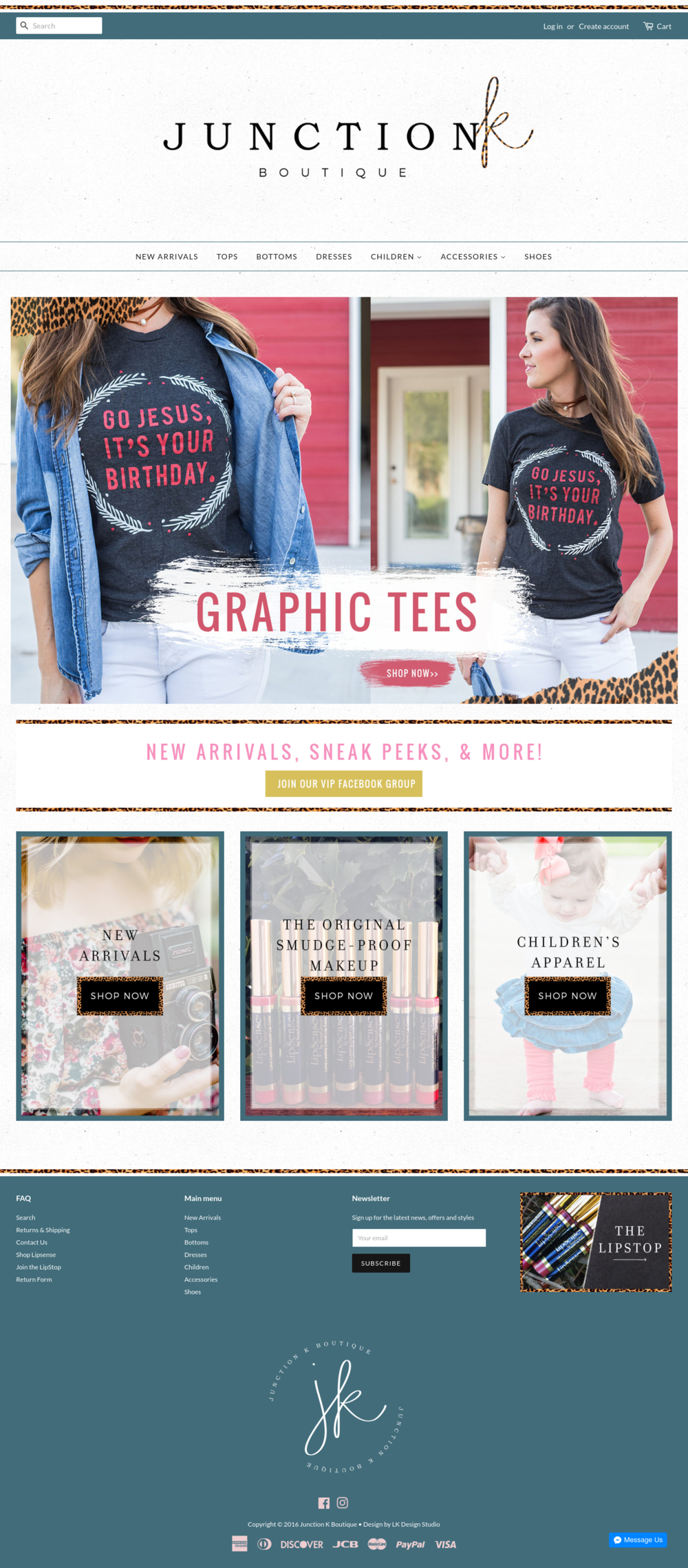 Junction K Boutique | Web Design Shopify