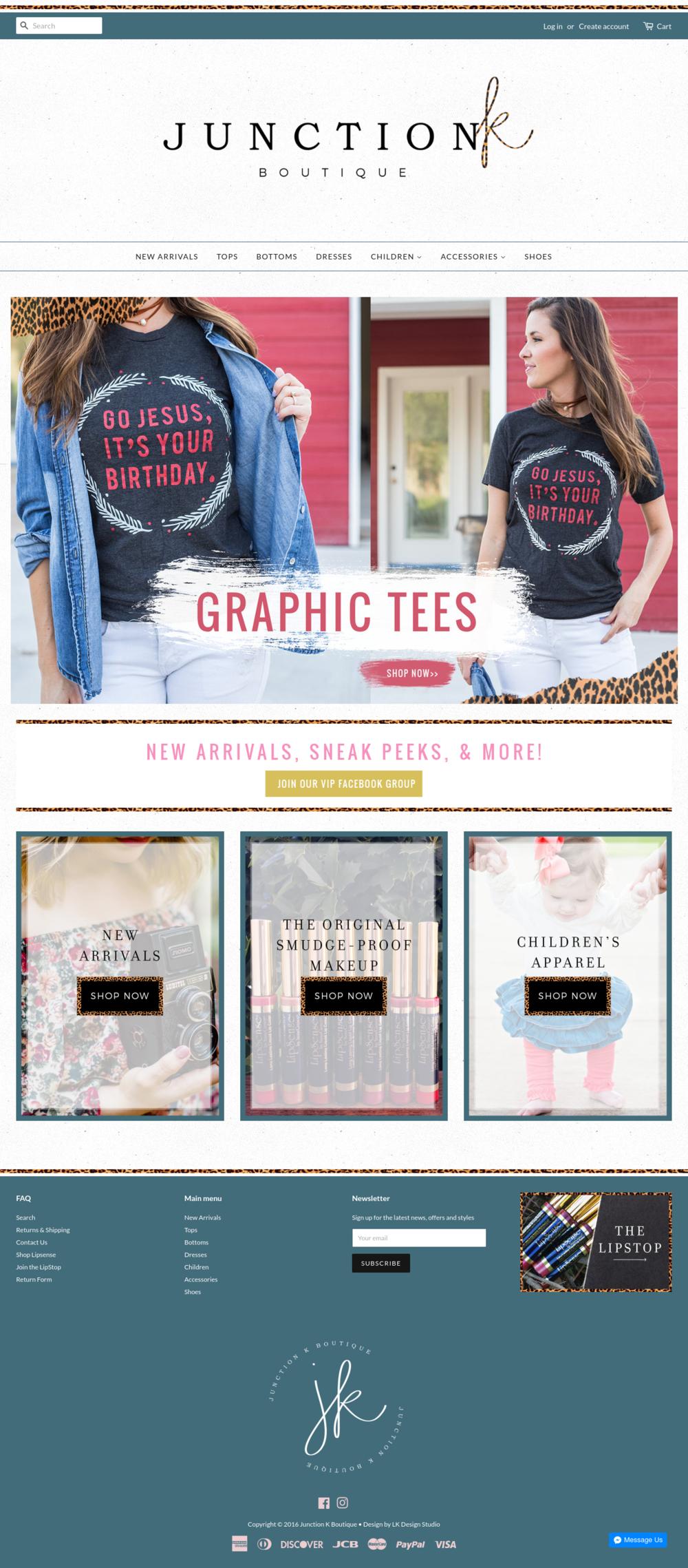 Junction K Boutique | Web Design Shopify