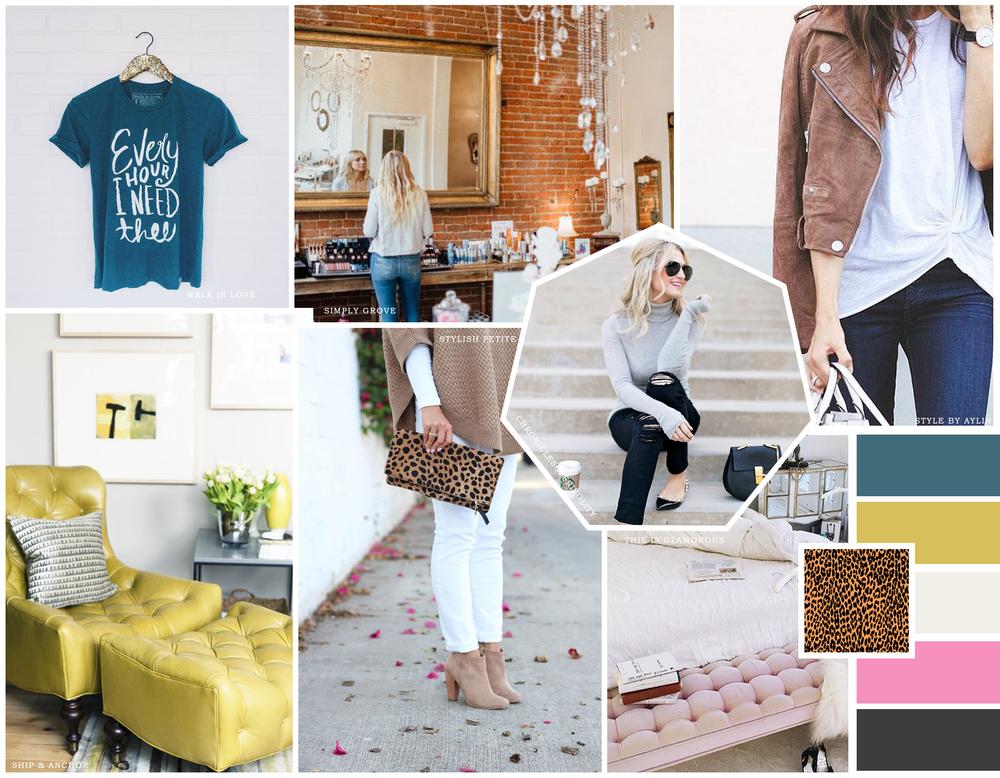 Boutique Mood Board | Shopify Web Design