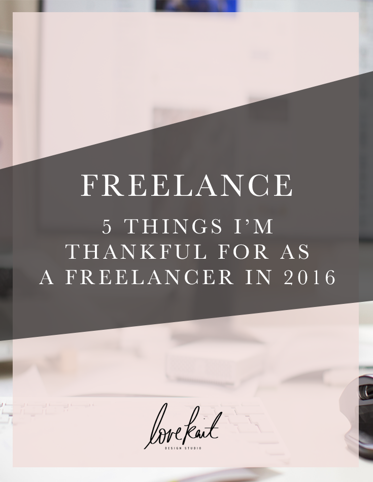 What I'm Thankful for as a freelance web & graphic designer