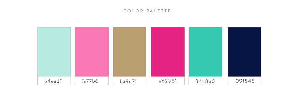 Boutique Color Palette | Jess Lea Boutique