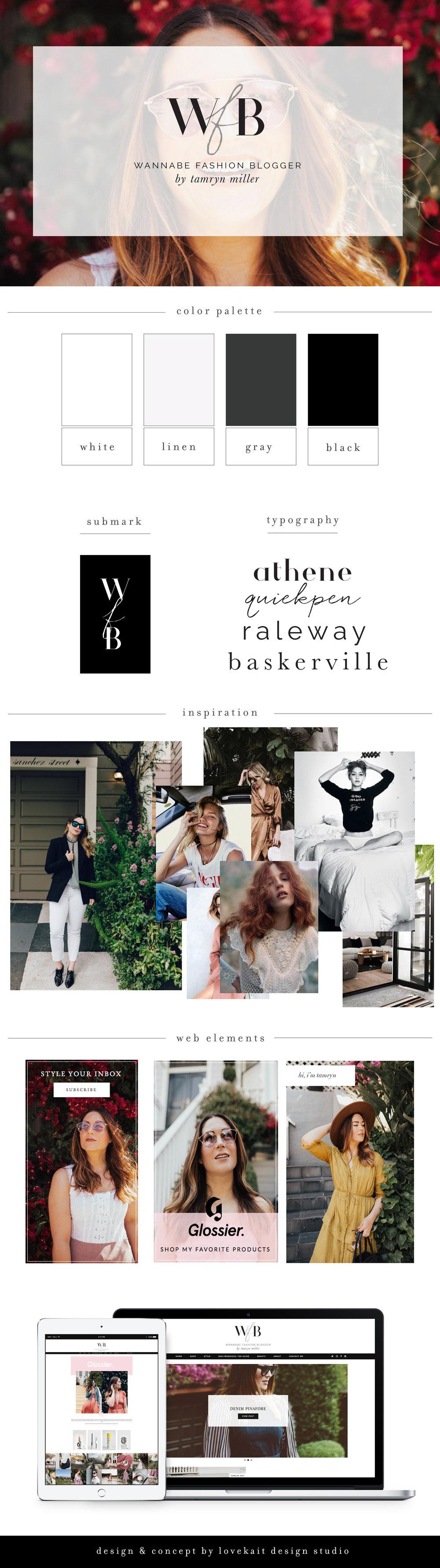 Wordpress Web Design + Fashion Bloggers + Wannabe Fashion Blogger, Glossier