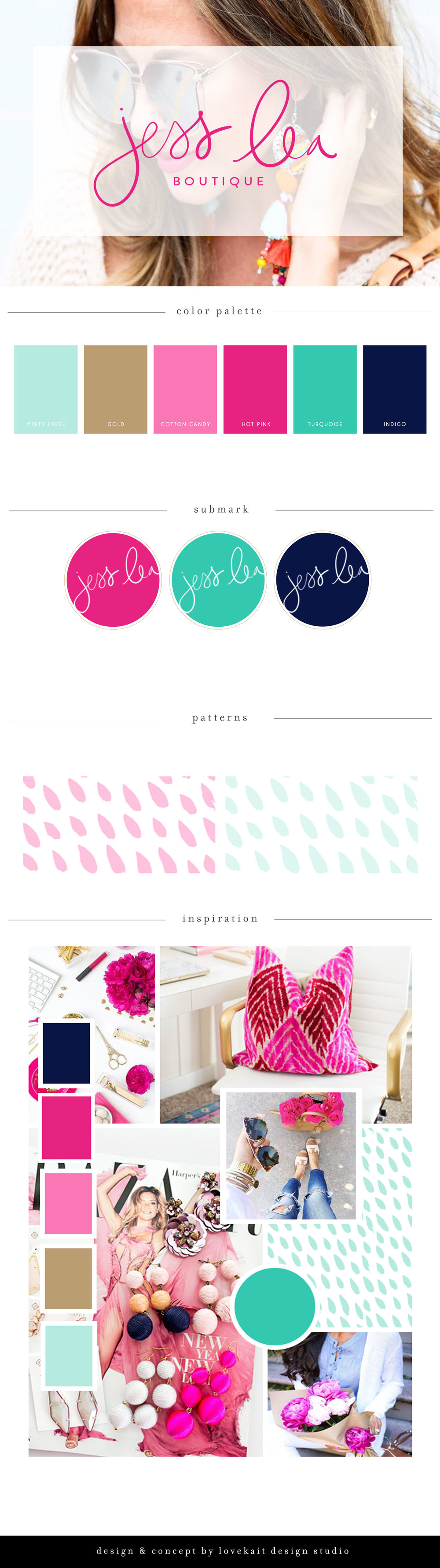 JessLea Boutique Branding and Logo Design