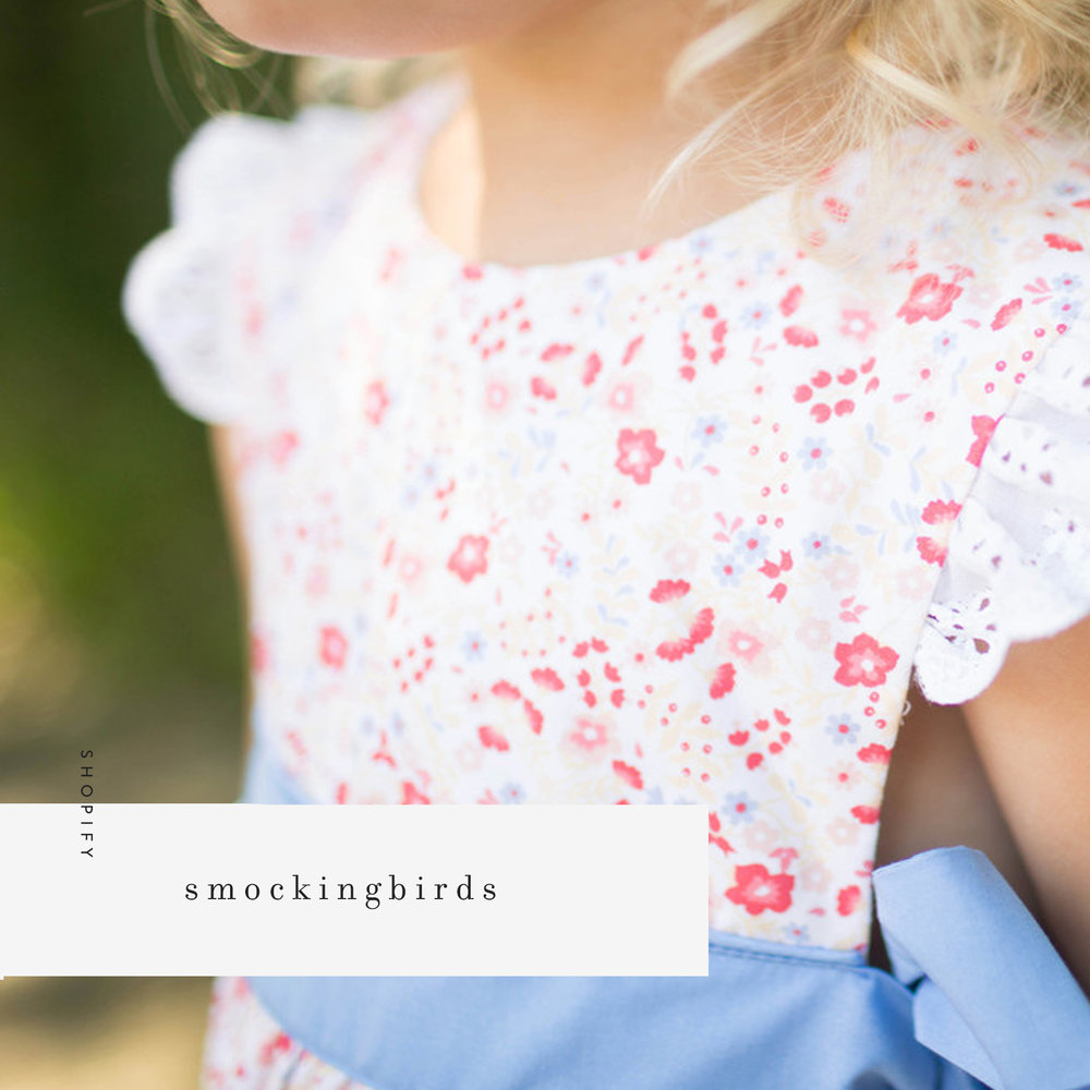 smockingbirds childrens boutique web design shopify