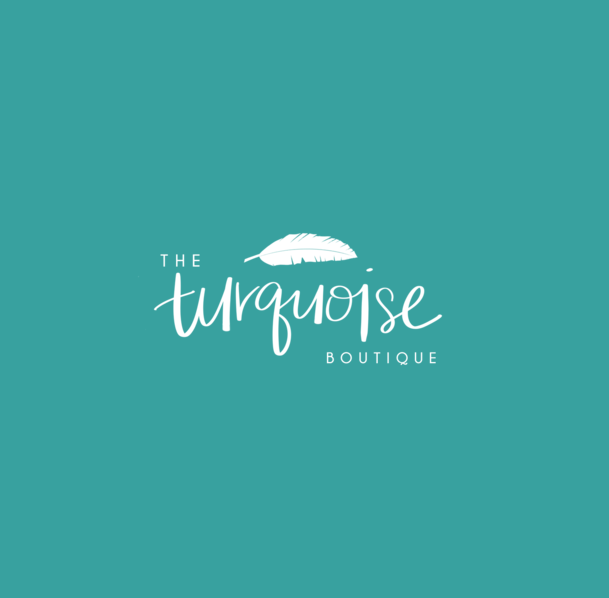 turquoise boutique new orleans logo design shopify