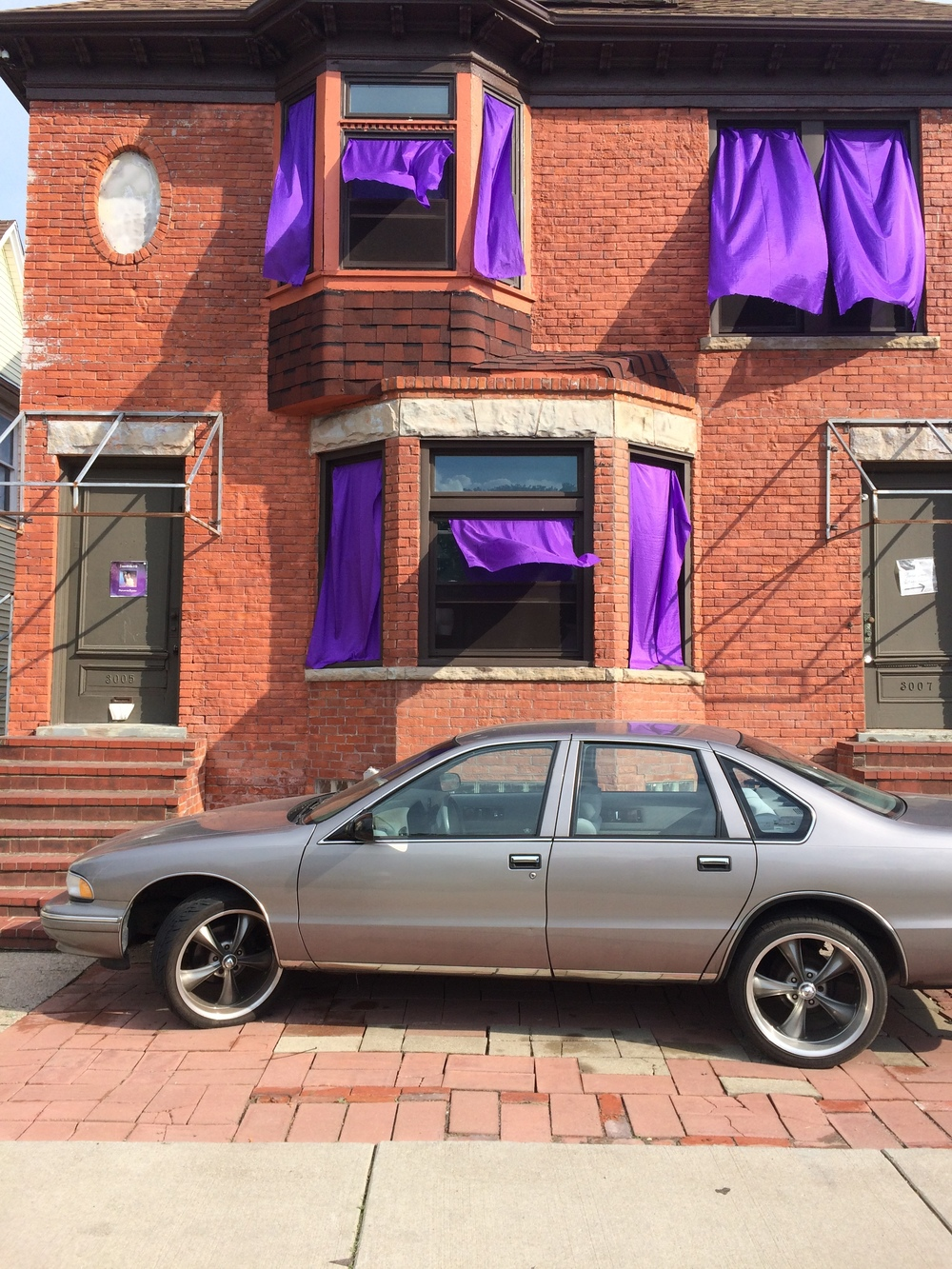 Outside Moodymann's House/Studio/Prince Shrine in Detroit