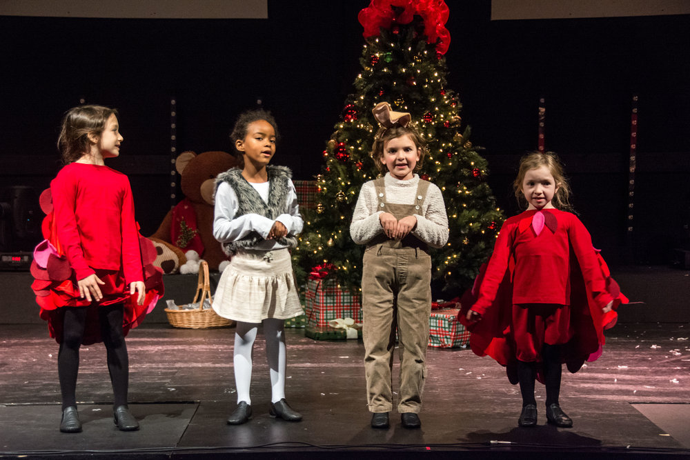 Beginner Musical Theatre Performance students in  The Velveteen Rabbit Christmas Musical  (Dec 2017)  Photo courtesy of Sally Horowitz