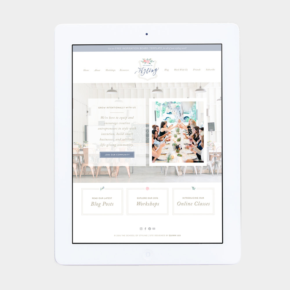 The School of Styling  – Website & Business Cards –