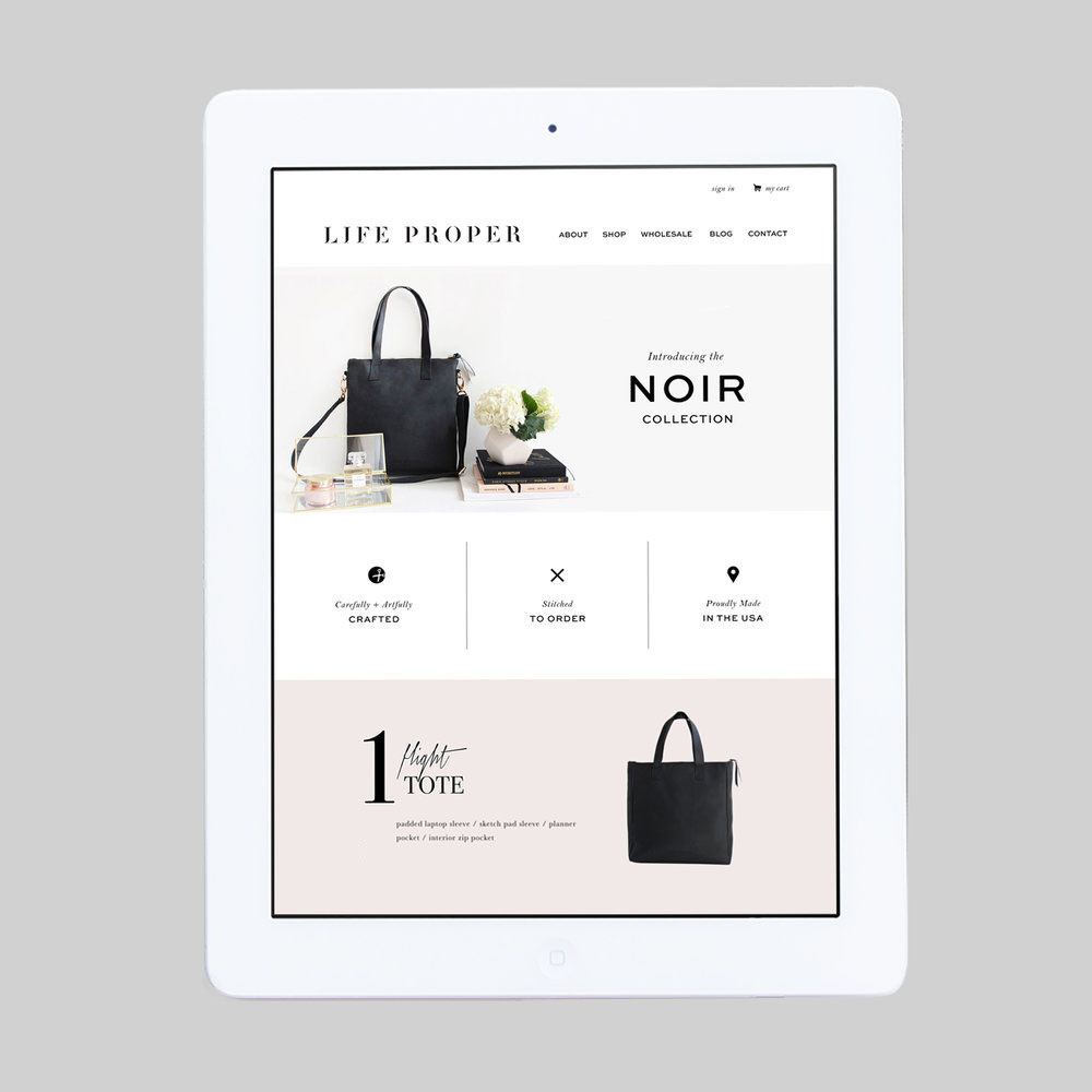Life Proper – Website, Product Photography, Print Materials –