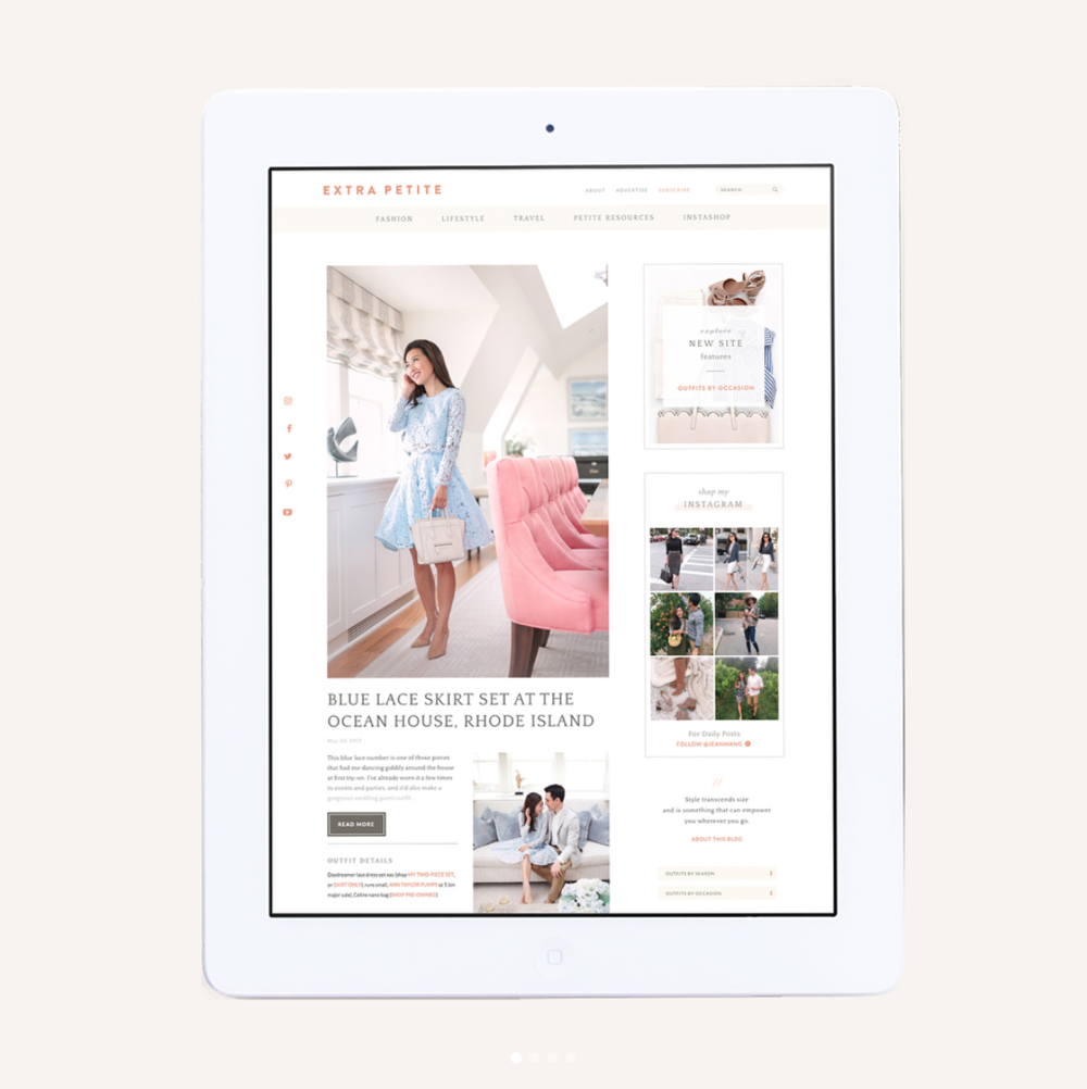 ExtraPetite - Web Design -