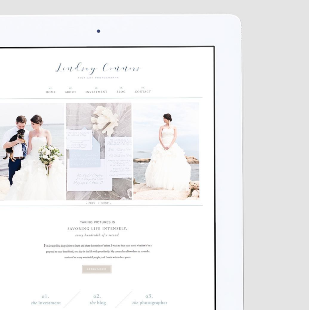 Lindsay Connors Photography  – Web Design –