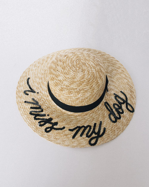 CUSTOM Sequin-Lettered Straw Sun Beach Hat — Quinn Luu Creative Studio 454d30465c9