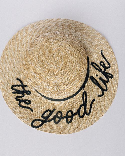 CUSTOM Sequin-Lettered Straw Sun Beach Hat — Quinn Luu Creative Studio 12eb56ca6f3