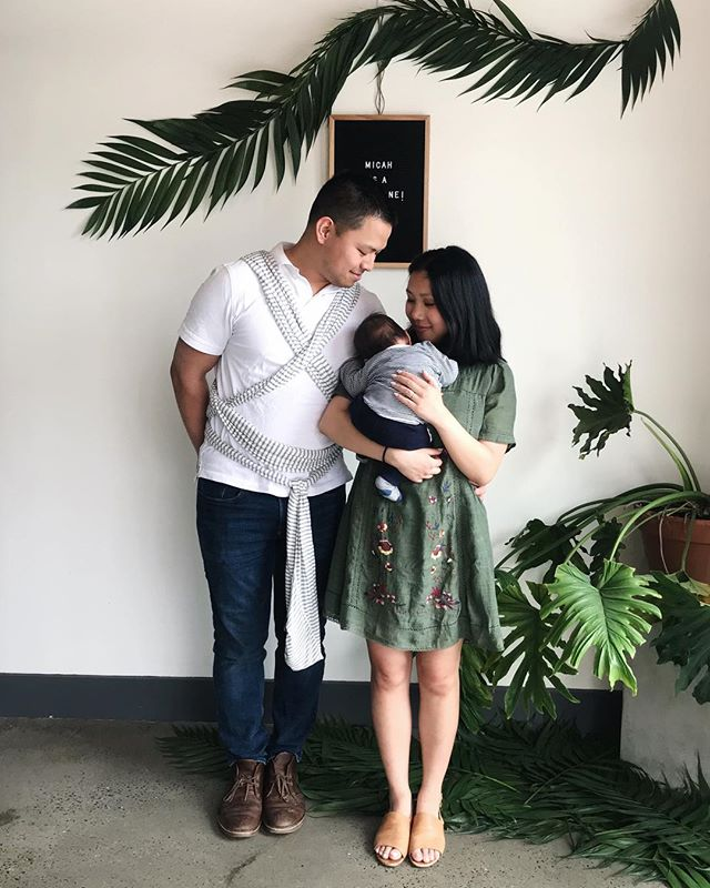 🌿 thankful for a beautiful weekend with family celebrating our nephew. and for this hubba/ dada who is always at the ready with a baby-wearing wrap. #emasculatedBond