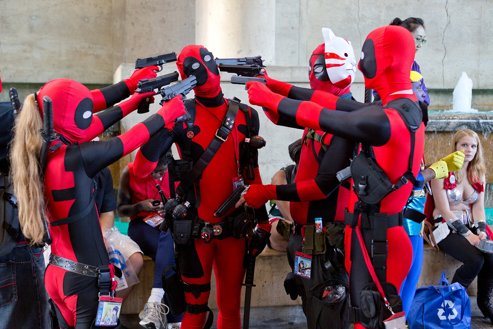 Sure, there's always been many Deadpools at every convention, but these tricksters are growing in number with the 2016 film breaking box office records (@ardias, www.flickr.com)