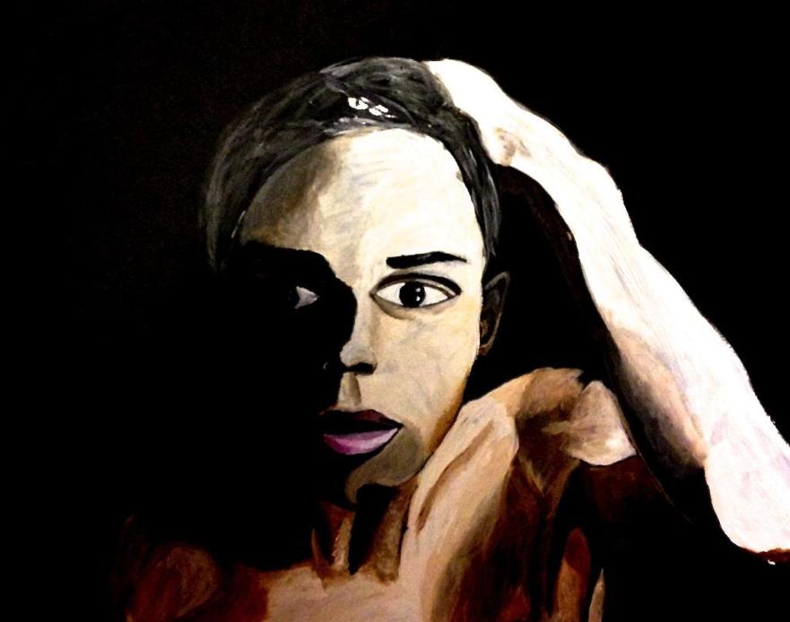 Sid: Acrylic on Matteboard (2014)