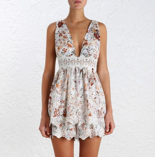 The Zimmermann Alchemy Broderie Set is the perfect summer outfit. This cute embroidered garment set is perfect for a wedding or a summer lunch. Pair it with some simple nude heels or wedges and you're good to go.  RRP:   $565.00