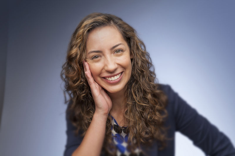 Smiling adult woman