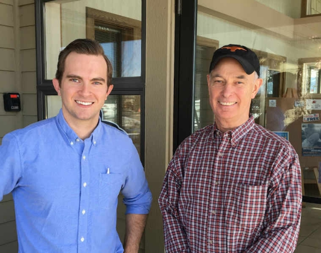 Dr. Jeffrey Rector (left) and Dr. Richard Nichols (right). Dr. Nichols is retiring after 34 years of orthodontic practice in the Bozeman area. Dr. Rector will be continuing the care of Dr. Nichols's patients.