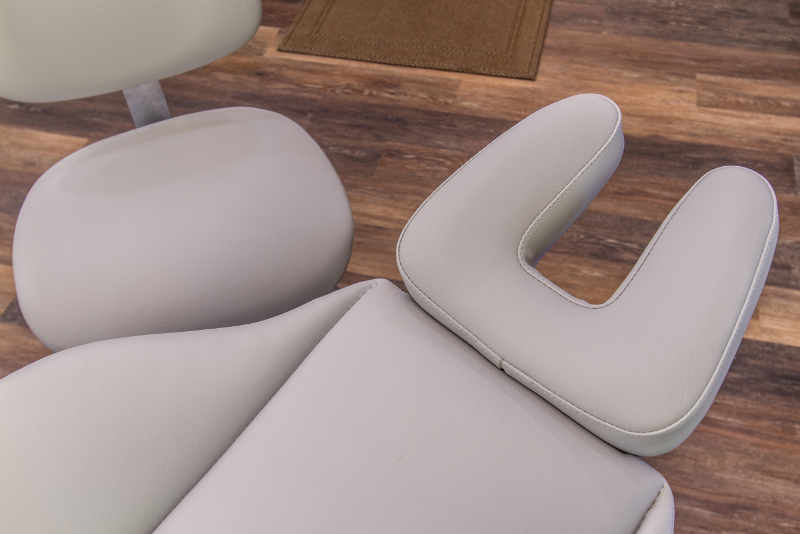 Ponytail-friendly orthodontic chairs.