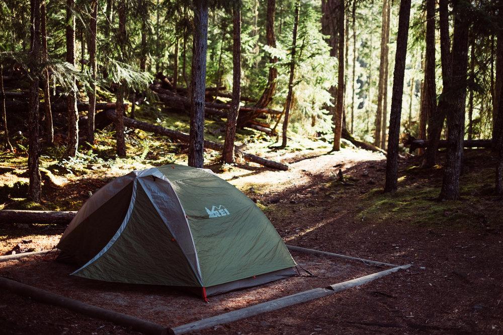 The camp spots were plenty spacious.
