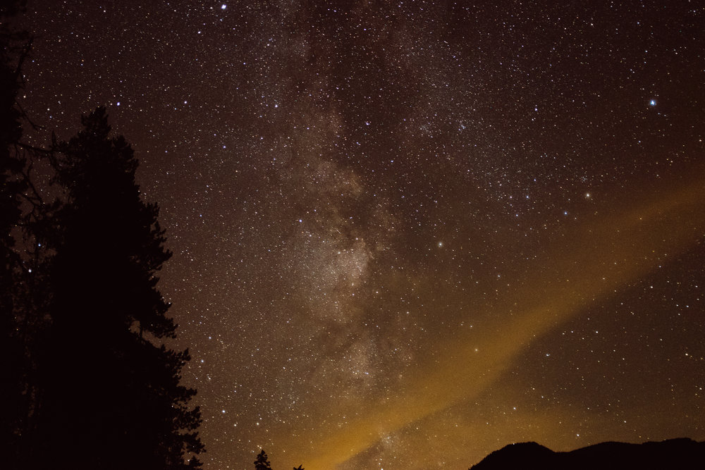 The Milky Way was visible to the naked eye!