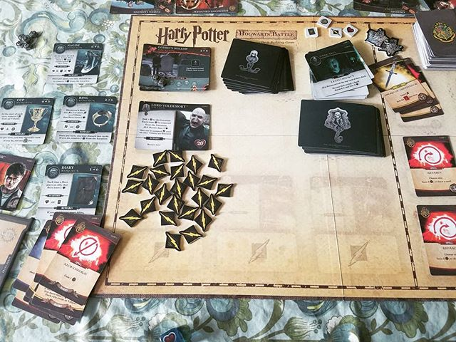 After about 8 tries we finally defeated Game 7 Voldermort! It's a big accomplishment for this household. cooperative games are fun. #hewhomustnotbenamed #harrypotter #usaopoly #harrypotterhogwartsbattle