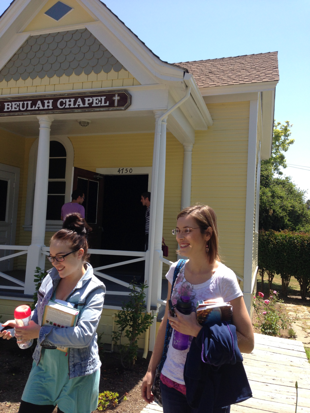 Beulah Chapel just outside the Home of Peace. Getting ready to head to SFO.