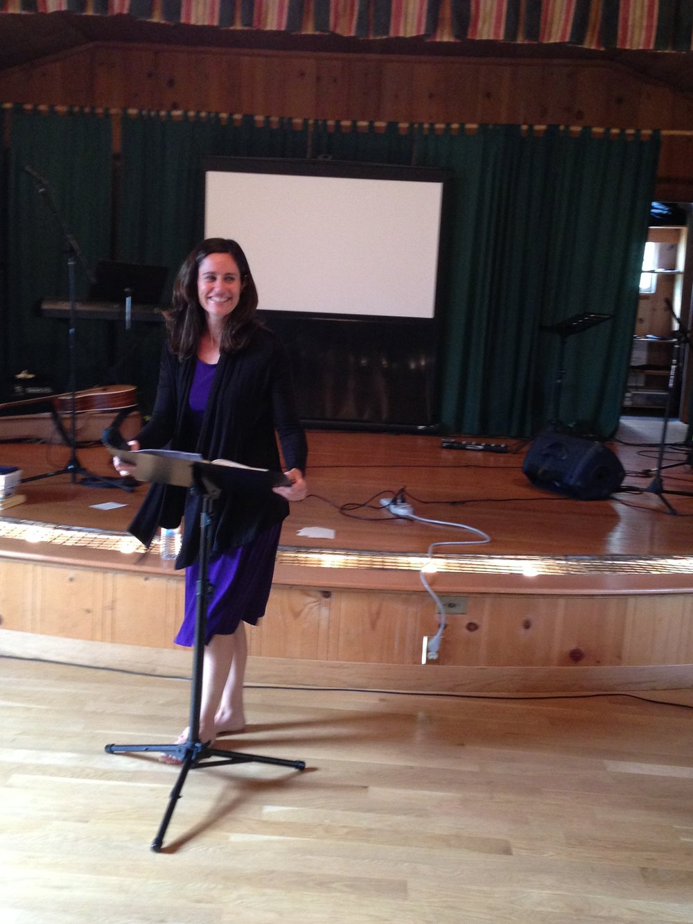 Preaching barefoot in honor of Saint Francis of Assisi.