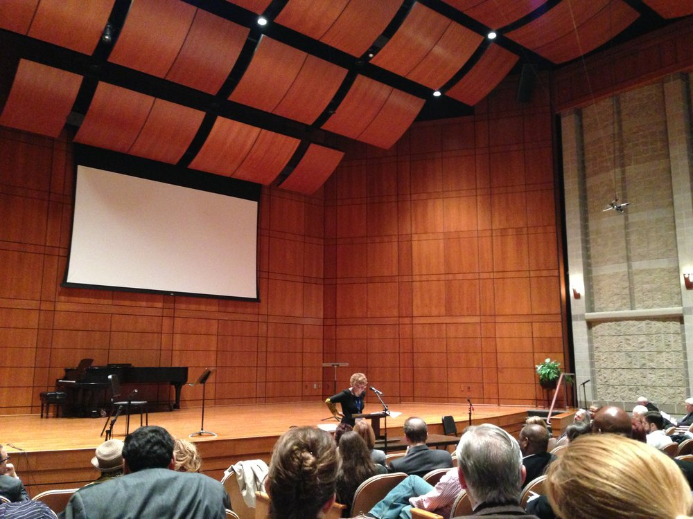 Cheryl Bridges Johns speaking moments before the Spirit broke out powerfully.