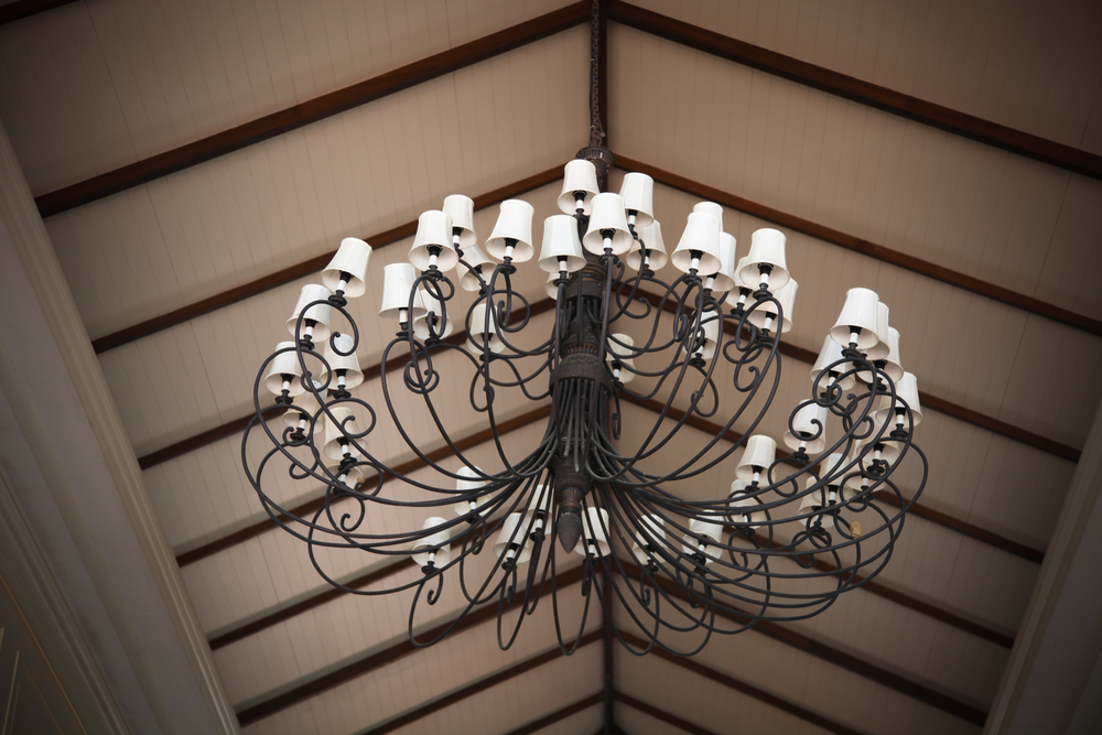 An example of lighting for a transitional design theme.