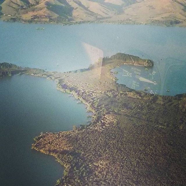 Lake Whangape at 2500ft from ZK-KOL.  Pilot : Srujan Raj Dhandu Navigator : Abhinav Dutta  #newzealand #flighttraining #c172 #newzealandaviation #piloteyes #pilotlife