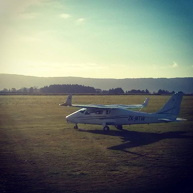 Our TECNAM getting some early morning sun.  #flighttraining #newzelandaviation #pilotlife #piloteyes #matamata #newzealand #pilotlife #pilots #twinengines #tecnam