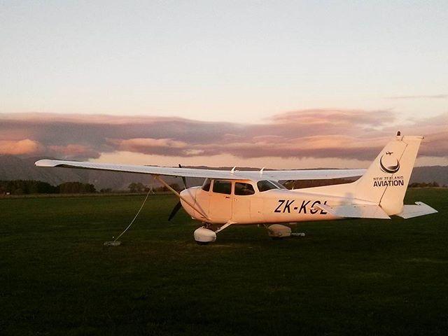 #matamata #newzealand #flighttraining #sunsets #c172