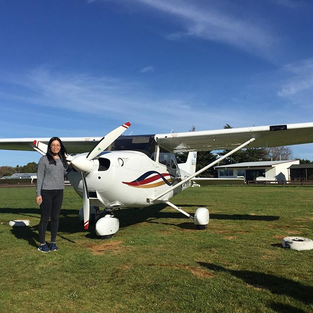 Congratulations to Scarlet on her first trial flight with instructor Kahn