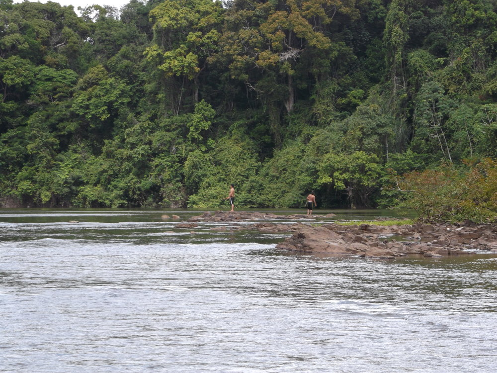 River monitoring - a conservation indicator - in the heart of Guyana